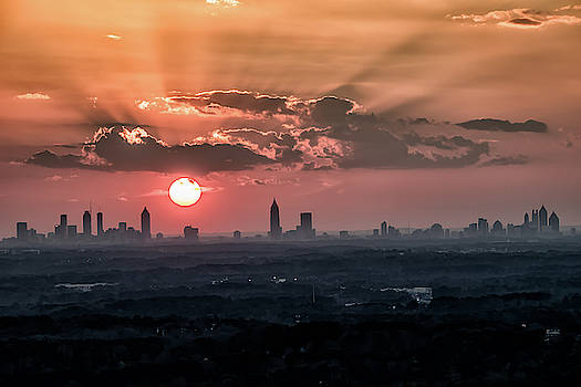 Sunset over the Entire Atlanta Skyline on 2-22-18 by Peter Ciro
