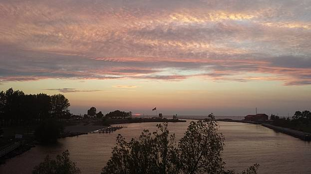 Sunset over the Harbor by Susan Wyman