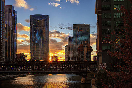 Sunset over the River by Andrew Soundarajan