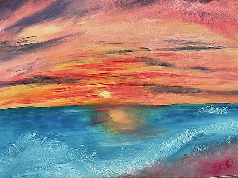Sunset over the Rolling Waves by Susan Grunin