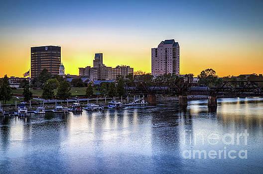 Sunset over the Savannah - Augusta GA by Sanjeev Singhal
