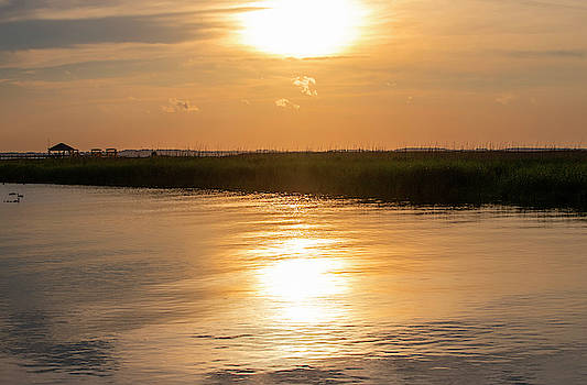 Sunset Over The Sound 2 by David Stasiak