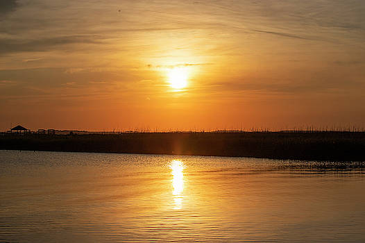Sunset Over The Sound 4 by David Stasiak