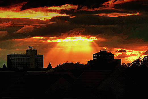 Sunset Over The Town by Jeff Townsend