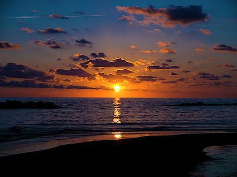 Sunset Over the Tyrrhenian Sea by Rae Tucker