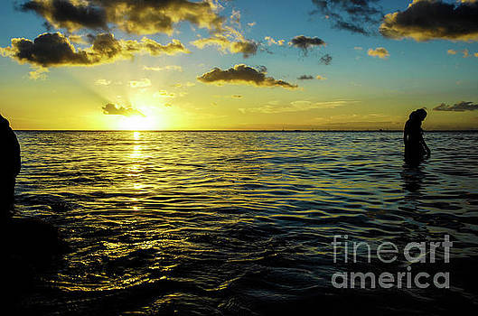 Sunset over Waikiki by Micah May
