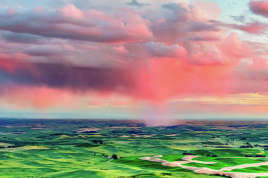 Sunset Rain over the Palouse by Bryan Carter
