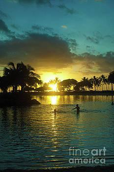 Sunset reflection, Hawaii by Micah May