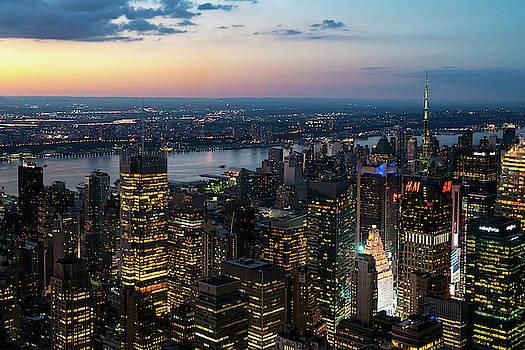 Sharon Popek - Sunset Skyline New York City