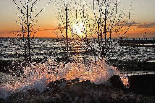 Sunset Splash 2 by David T Wilkinson