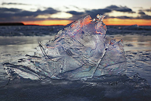 Sunset Through the Ice by David T Wilkinson