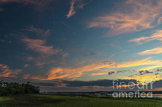 Sunset - Wando River in Charleston SC by Dale Powell