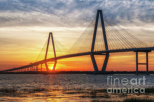 Dale Powell - Sunset Warm Glow over Charleston