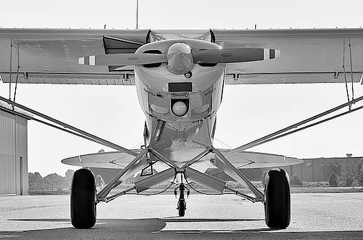 Super Cub in Black and White by Chris Buff