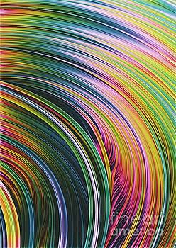 Super Strands. Colorful Abstract Art  by Stephen Geisel
