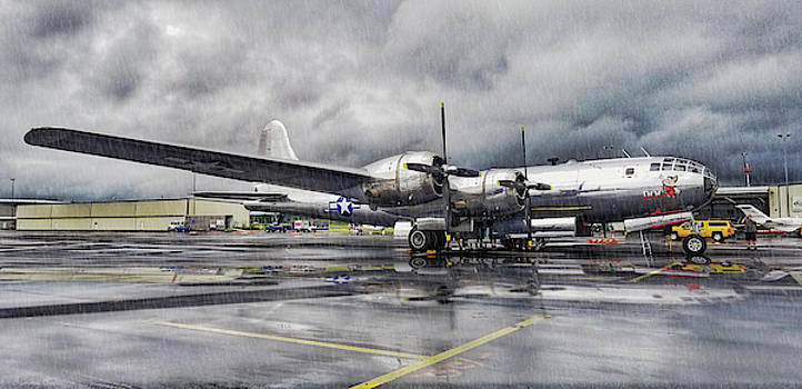 Superfortress in the rain by Tommy Anderson