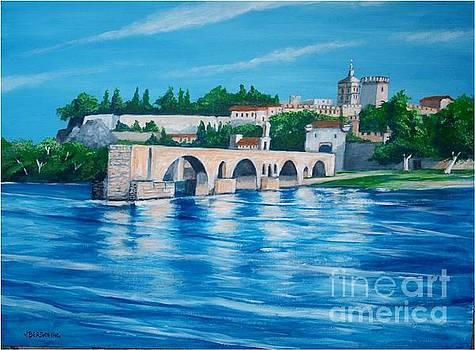 Sur le Pont d'Avignon by Jean Pierre Bergoeing