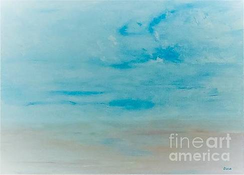 Surf and Sand Blue Version by Eloise Schneider Mote