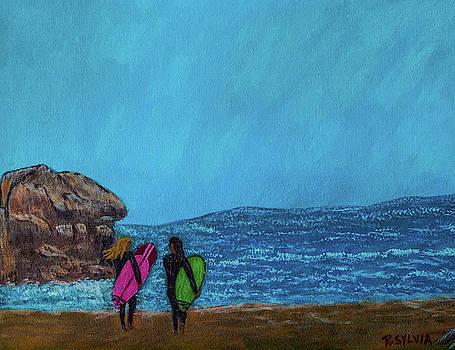 Surfer Girls by Randy Sylvia
