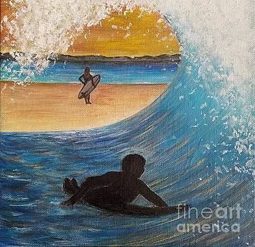 Surfers by Amy Lee Coy