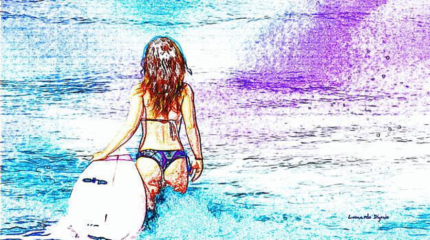 Surfing Girl - PA by Leonardo Digenio