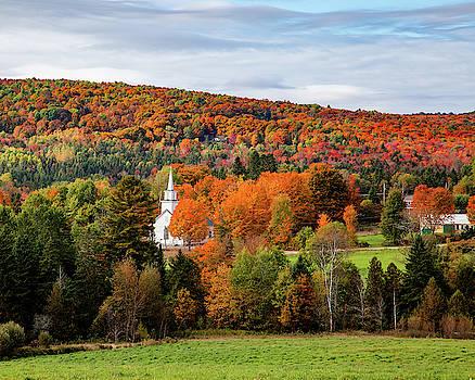 Sutton Church Fall Landscape by Tim Kirchoff