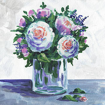 Sweet Flowers Ranunculus Bouquet Impressionism  by Irina Sztukowski