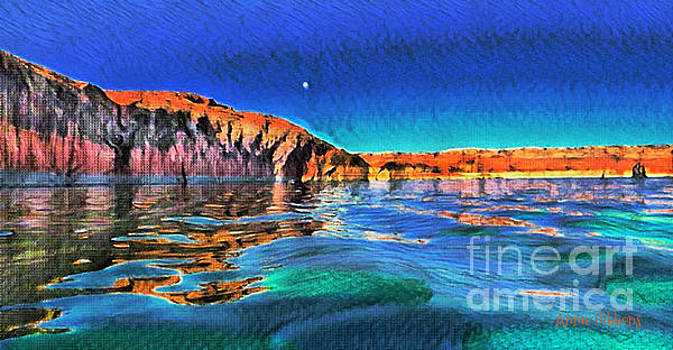 Swells and reflections Lake Powell by Annie Gibbons