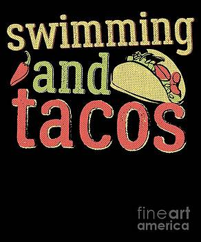Swimming Tacos And Swimming Swimmers Gift Light by J P