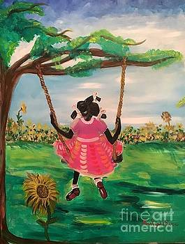Swing Over The Sunflowers by Lisa Gilyard