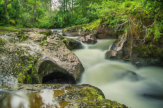 Swirling Waters at Buchanty Spout, Scotland by Alan Campbell