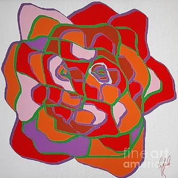 Sylized Rose by Cybele Chaves