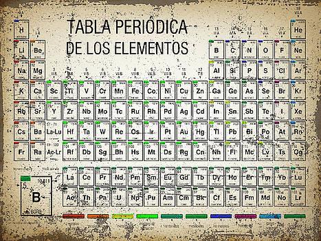 Tabla Periodica De Los Elementos Periodic Table Of The Elements Vintage Chart Silver by Tony Rubino