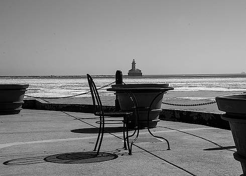 Table for one bw by Stuart Manning