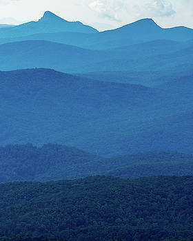Table Rock and Hawksbill  Mountain - Linville North Carolina - Blue Ridge Parkway by Mike Koenig