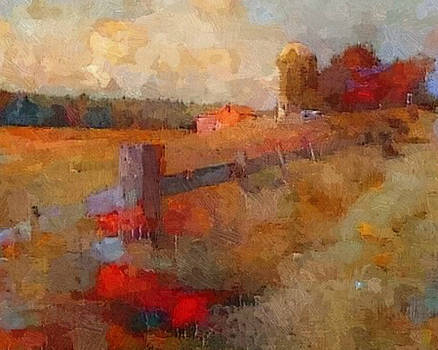 Taconic Farm Fence by Don Berg