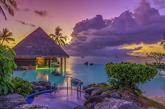 Tahitian Sunset by Scott McGuire