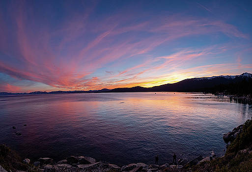 Tahoe fishermen by Martin Gollery