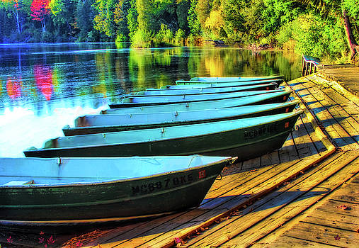 Tahquamenon Falls Boat Dock by Pat Cook