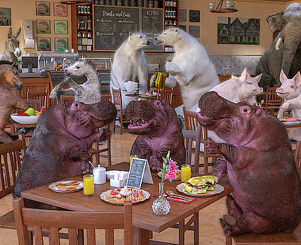 Talk of the Town Coffee Shop by Betsy Knapp