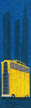 Tall American taxi Wall Art by Brian James