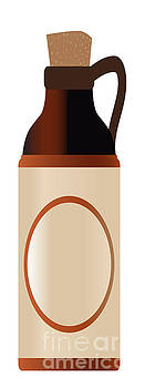 Tall Blank Stone Bottle With Cork And Logo by Bigalbaloo Stock