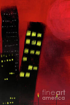 Benjamin Harte - Tall Buildings Against A Blood Red Sky