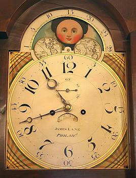 Tall case clock face, around 1816 by James Lane