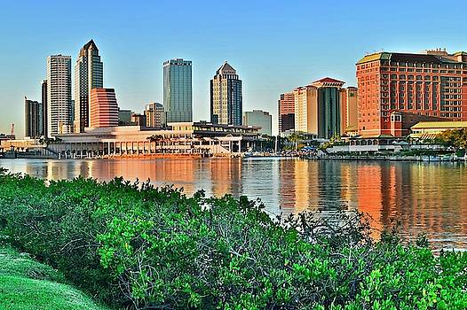 Frozen in Time Fine Art Photography - Tampa in The Distance