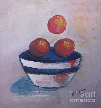 Tangerine and Bowl  by Vesna Antic