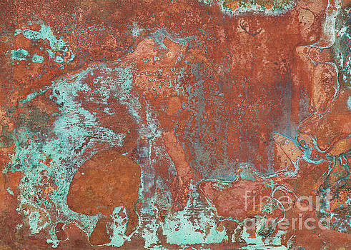 Tarnished Metal Copper Texture - Natural Marbling Industrial Art by Melissa Fague
