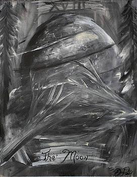Tarot Inspired Painting  -  The Moon by Dea Poirier