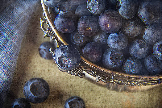 Tasty Bowl Of Blueberries by Cindi Ressler