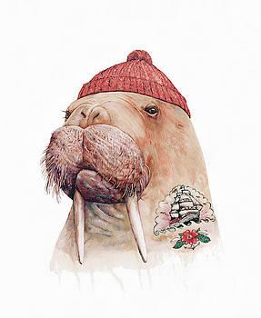 Tattooed Walrus Red by Animal Crew